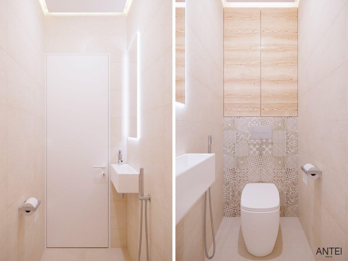 Дизайн интерьера однокомнатной квартиры в Гомеле, ул. Богданова - санузел фото №1