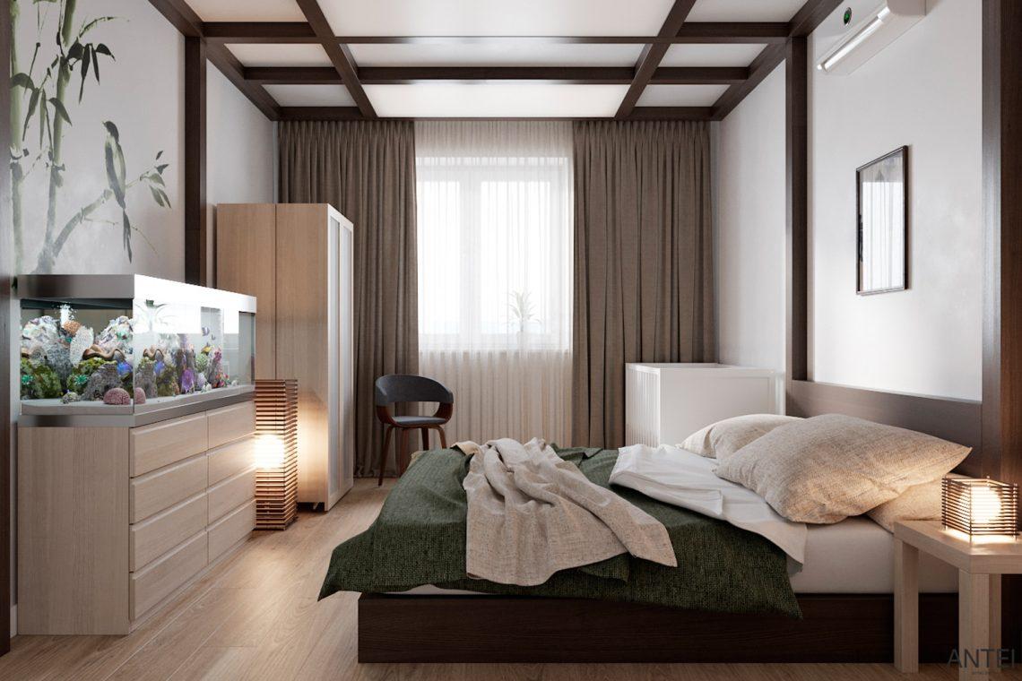 Дизайн интерьера трехкомнатной квартиры в Гомеле, ул. Волотовская - спальня фото №3