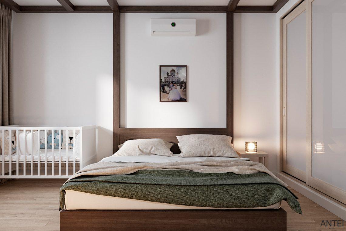 Дизайн интерьера трехкомнатной квартиры в Гомеле, ул. Волотовская - спальня фото №1