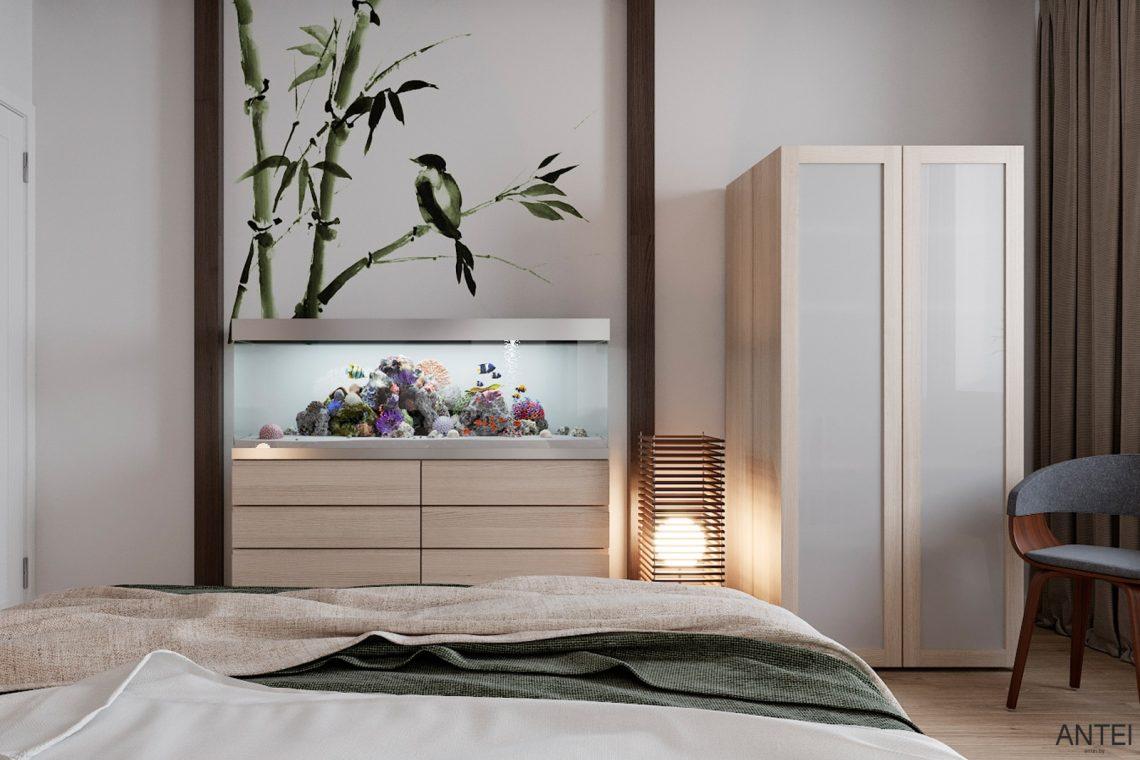 Дизайн интерьера трехкомнатной квартиры в Гомеле, ул. Волотовская - спальня фото №4