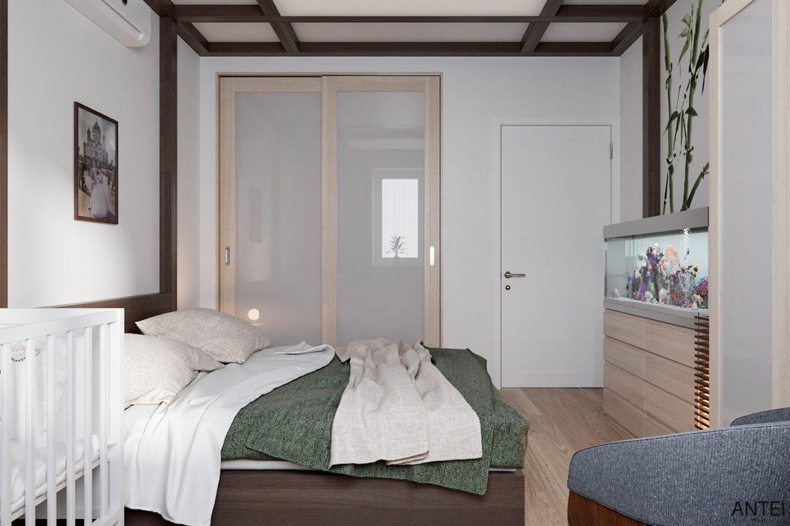 Дизайн интерьера трехкомнатной квартиры в Гомеле, ул. Волотовская - спальня фото №2