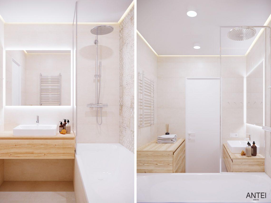 Дизайн интерьера однокомнатной квартиры в Гомеле, ул. Богданова - ванная фото №1
