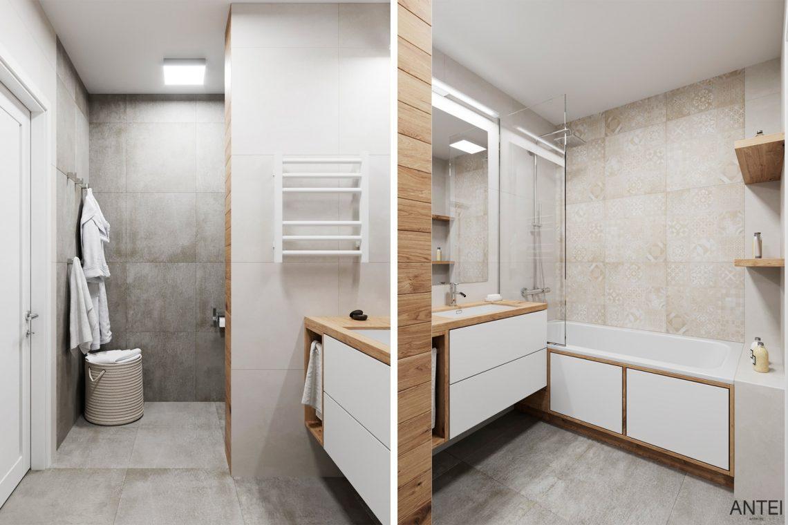 Дизайн интерьера трехкомнатной квартиры в Гомеле, ул. Волотовская - ванная фото №2