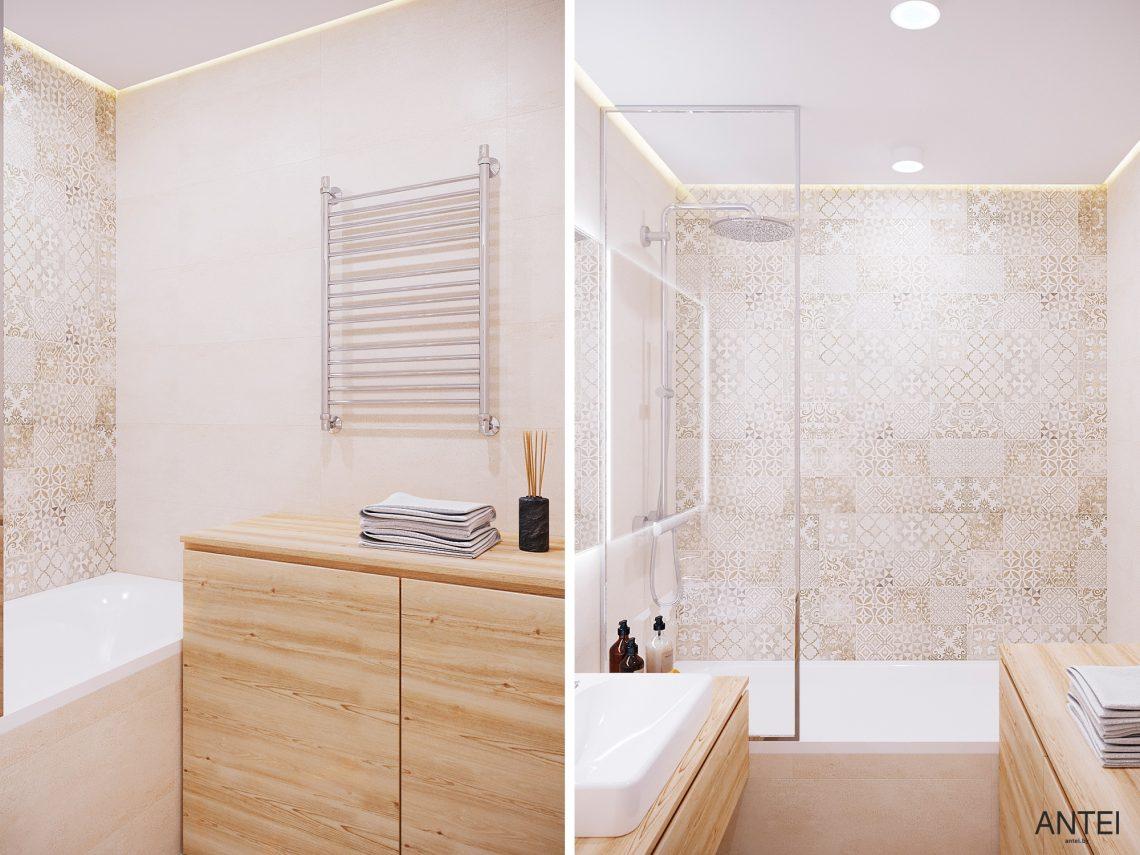 Дизайн интерьера однокомнатной квартиры в Гомеле, ул. Богданова - ванная фото №2