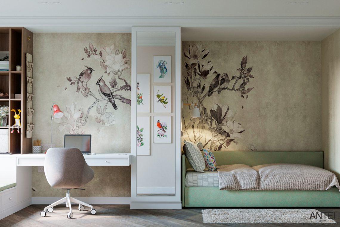 Дизайн интерьера трехкомнатной квартиры в Гомеле, ул. Бородина - детская комната фото №3