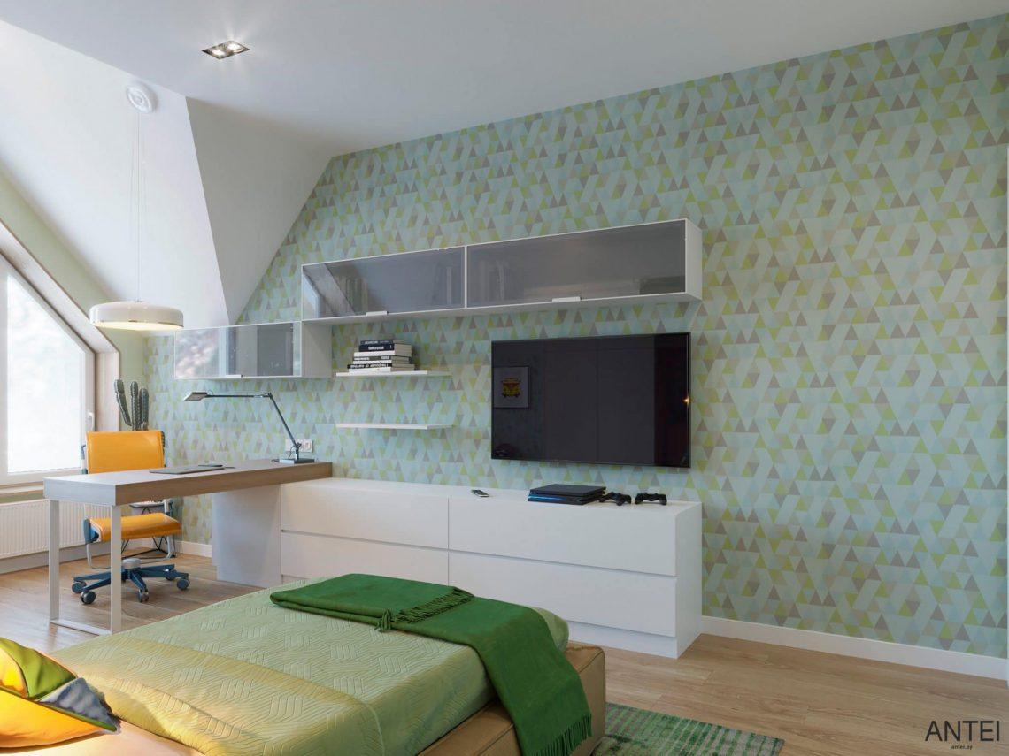 Дизайн интерьера двухэтажного дома в Гомеле, по ул. Брянская - детская комната фото №1
