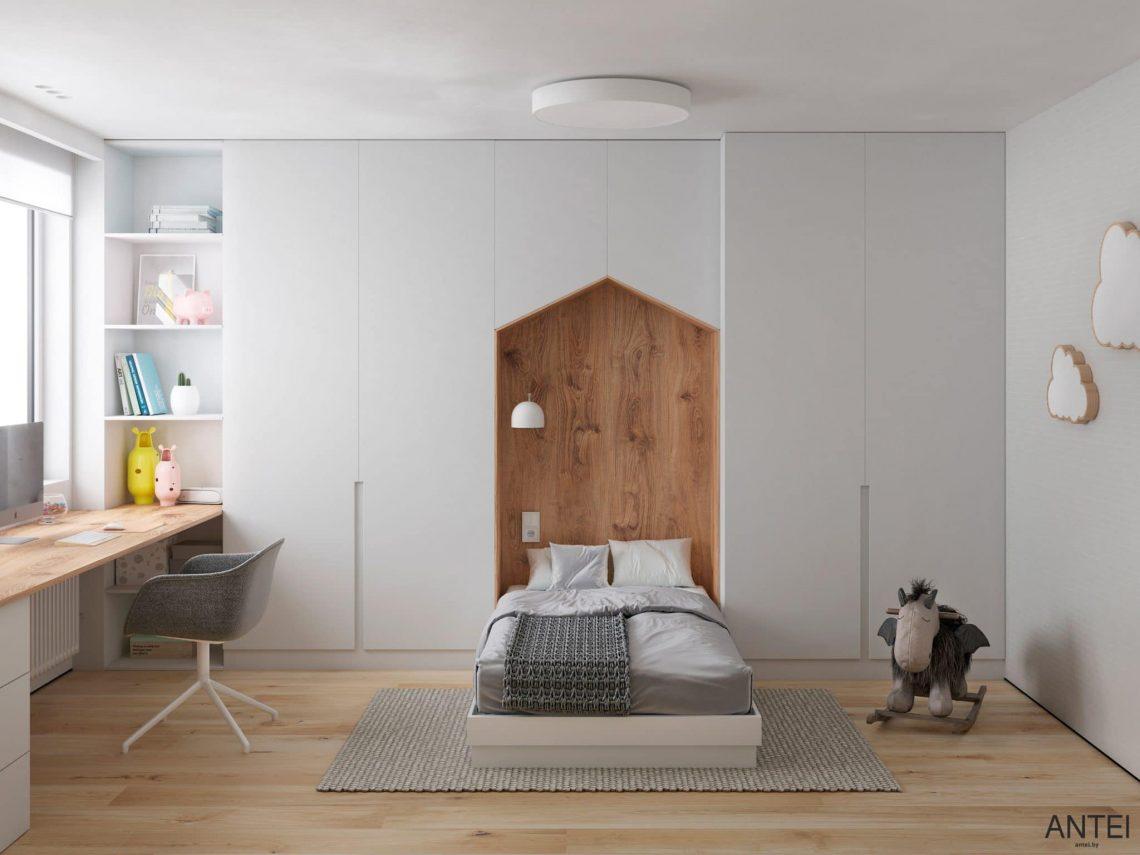 Дизайн интерьера трехкомнатной квартиры в Речице, ул. Наумова - детская комната фото №1