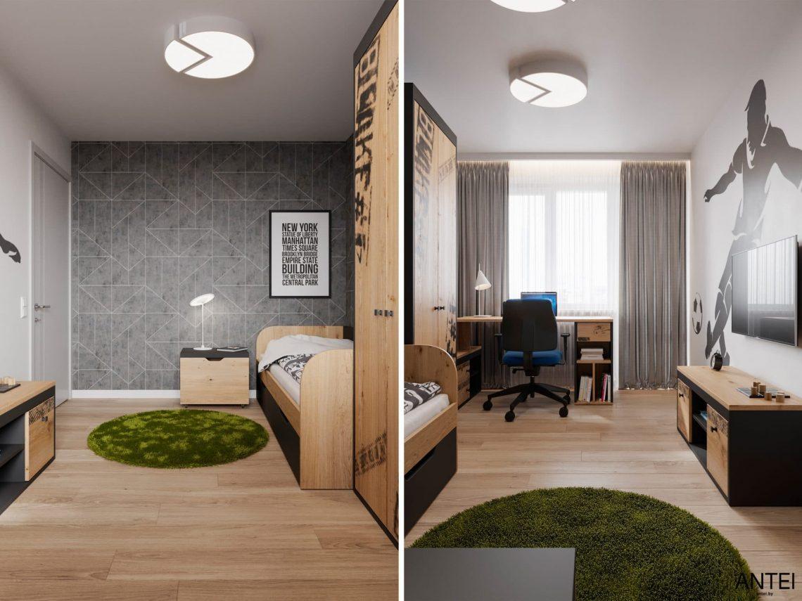 Дизайн интерьера трехкомнатной квартиры в Гомеле, по ул. Садовая - детская комната фото №1