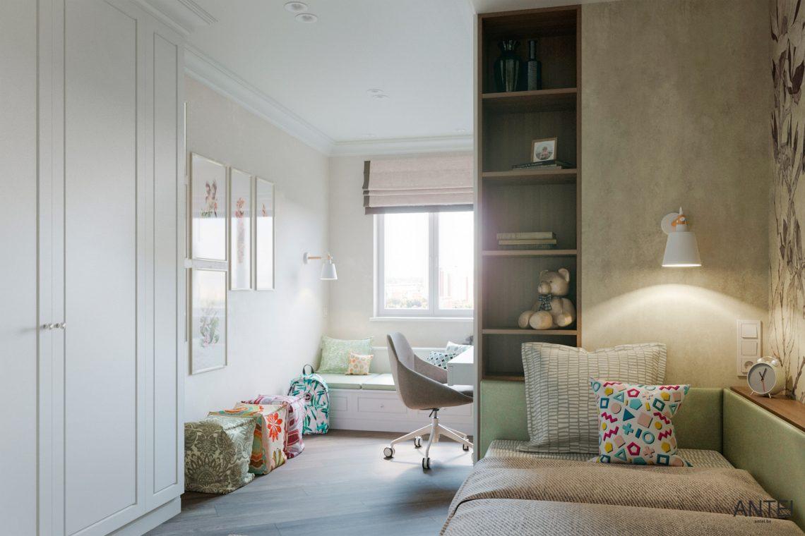 Дизайн интерьера трехкомнатной квартиры в Гомеле, ул. Бородина - детская комната фото №1