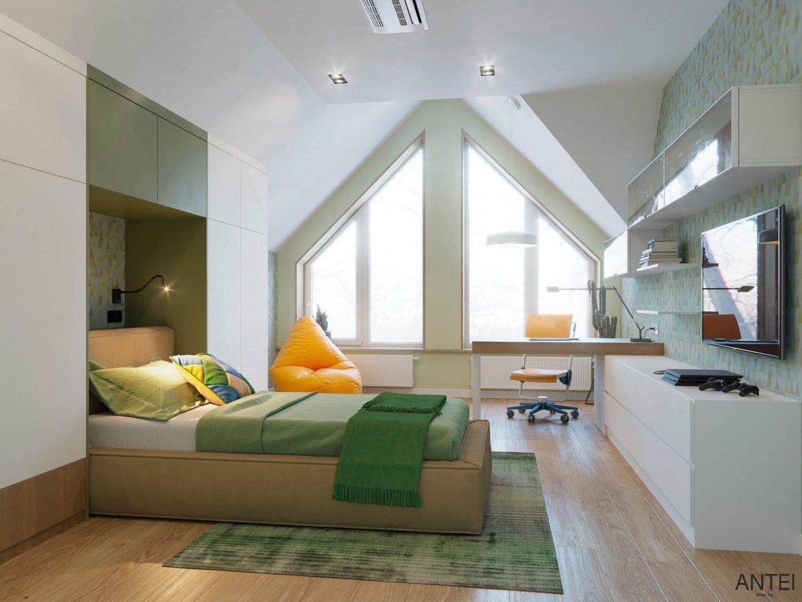 Дизайн интерьера двухэтажного дома в Гомеле, по ул. Брянская - детская комната фото №2