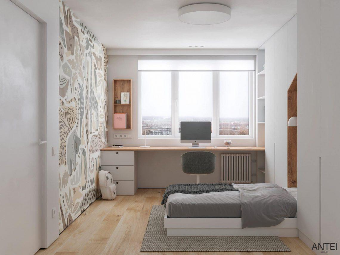 Дизайн интерьера трехкомнатной квартиры в Речице, ул. Наумова - детская комната фото №2