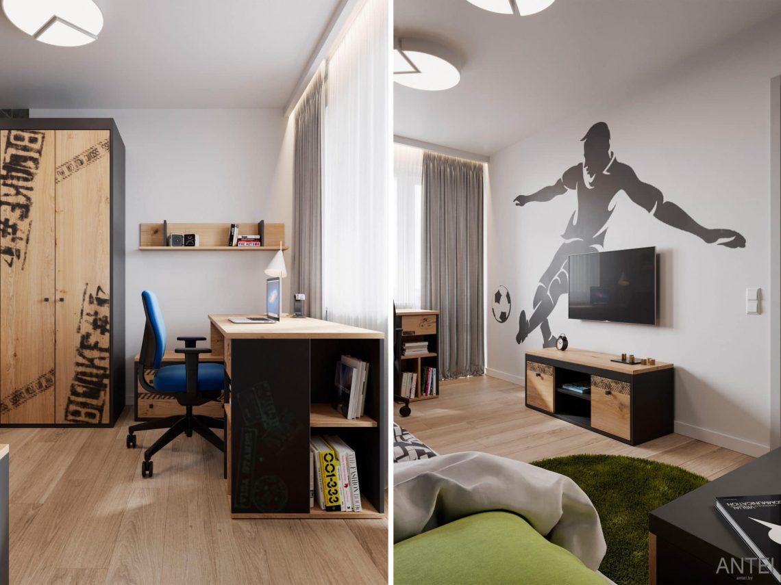 Дизайн интерьера трехкомнатной квартиры в Гомеле, по ул. Садовая - детская комната фото №2