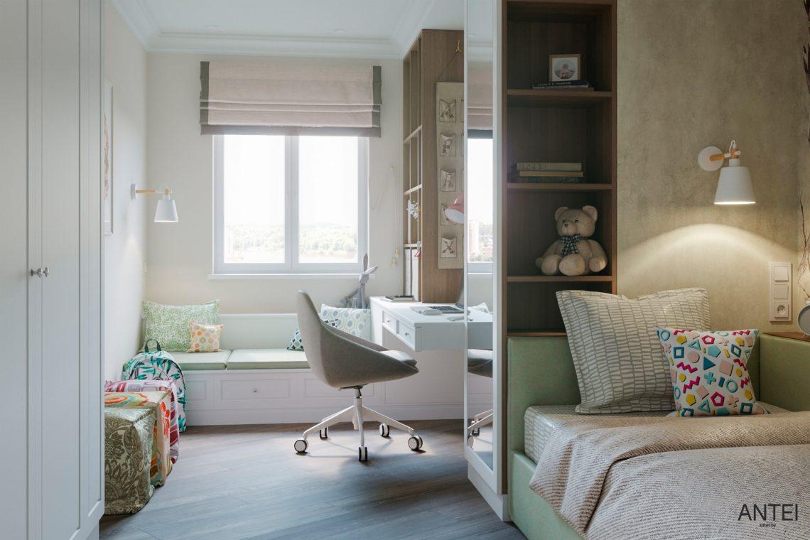 Дизайн интерьера трехкомнатной квартиры в Гомеле, ул. Бородина - детская комната фото №2