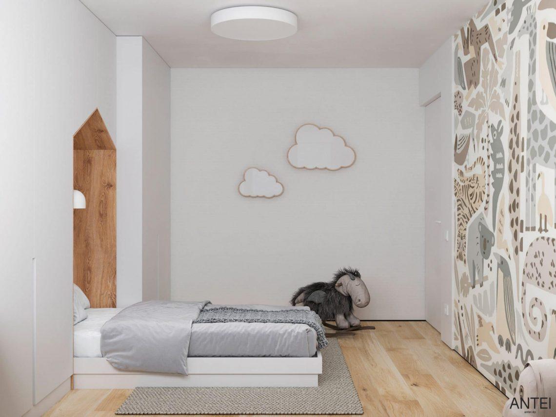 Дизайн интерьера трехкомнатной квартиры в Речице, ул. Наумова - детская комната фото №3