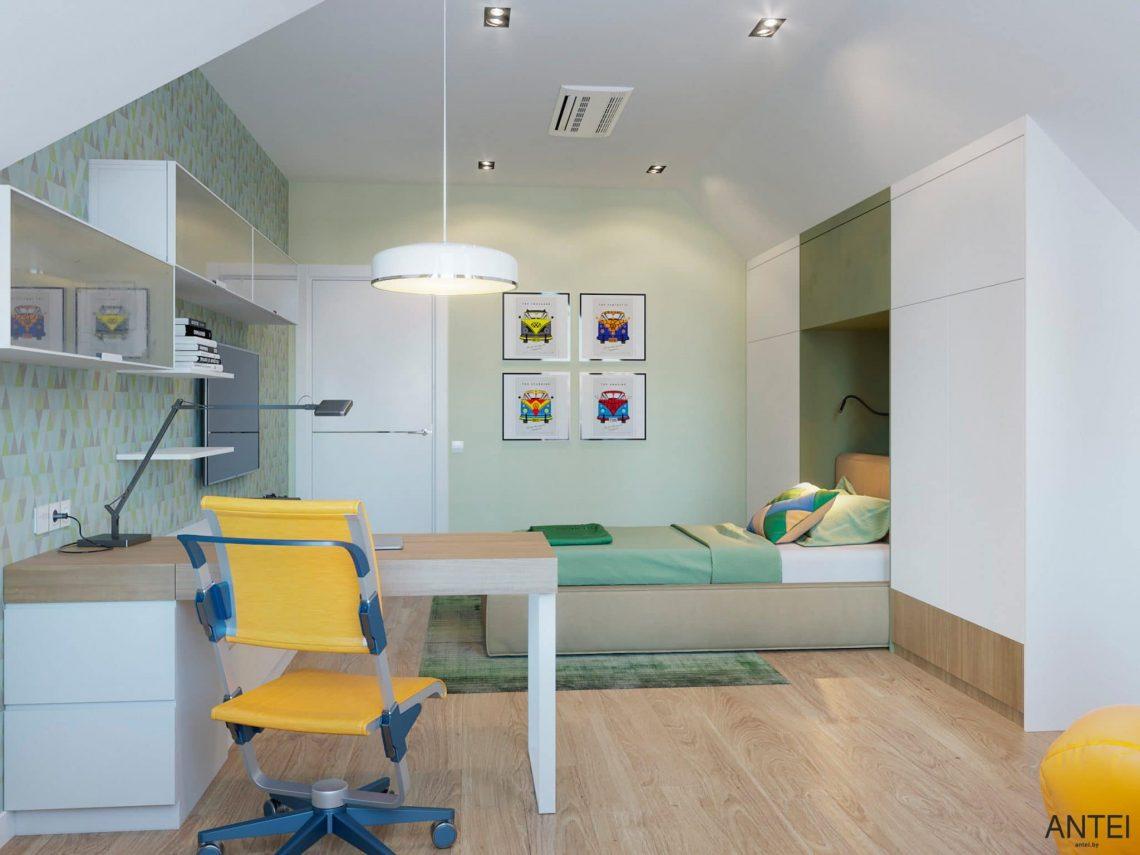 Дизайн интерьера двухэтажного дома в Гомеле, по ул. Брянская - детская комната фото №4