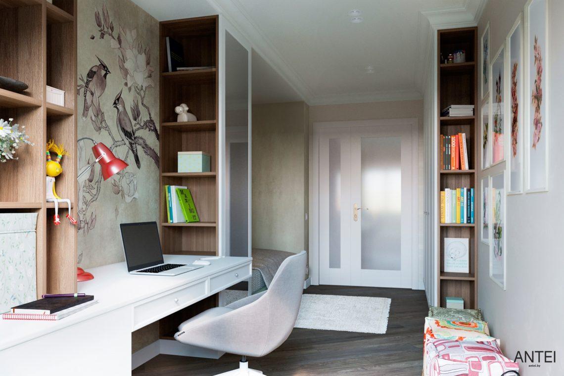 Дизайн интерьера трехкомнатной квартиры в Гомеле, ул. Бородина - детская комната фото №5