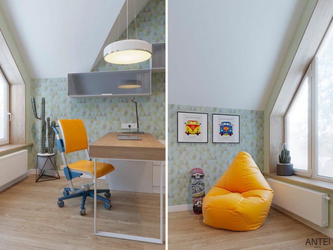 Дизайн интерьера двухэтажного дома в Гомеле, по ул. Брянская - детская комната фото №6