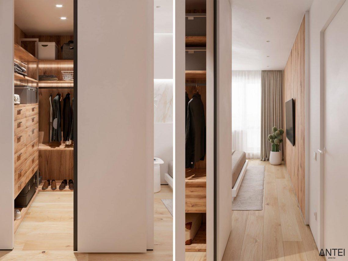 Дизайн интерьера трехкомнатной квартиры в Речице, ул. Наумова - гардеробная фото №1