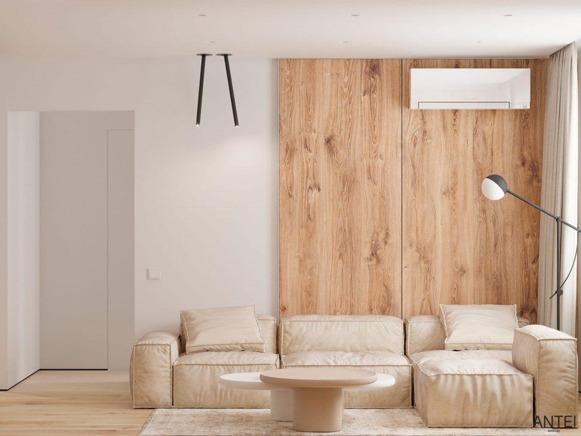 Дизайн интерьера трехкомнатной квартиры в Речице, ул. Наумова - гостиная фото №2