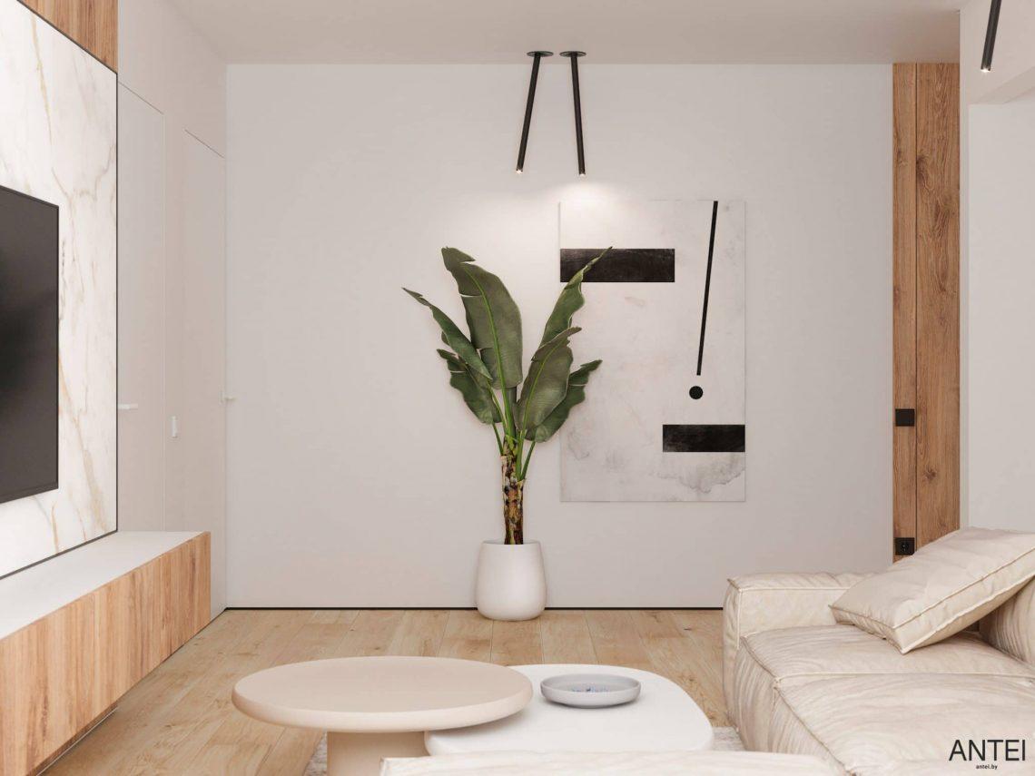 Дизайн интерьера трехкомнатной квартиры в Речице, ул. Наумова - гостиная фото №6