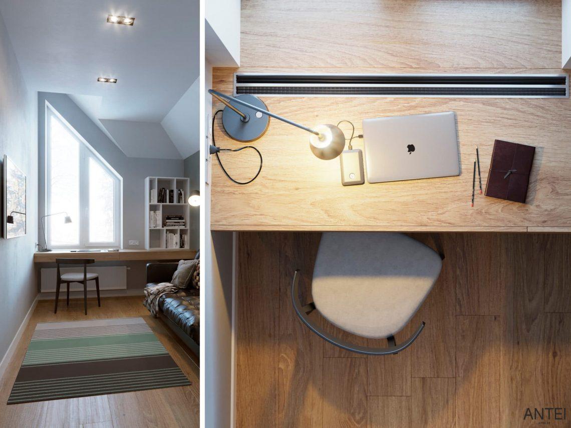 Дизайн интерьера двухэтажного дома в Гомеле, по ул. Брянская - кабинет фото №1