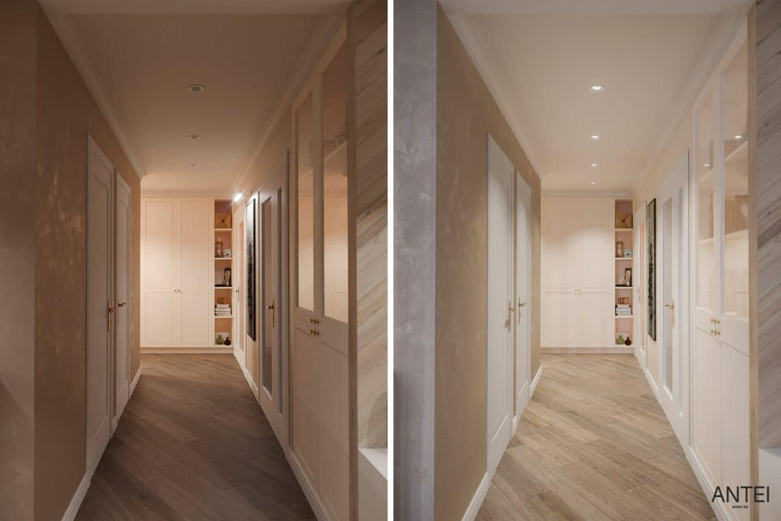Дизайн интерьера трехкомнатной квартиры в Гомеле, ул. Бородина - коридор фото №1