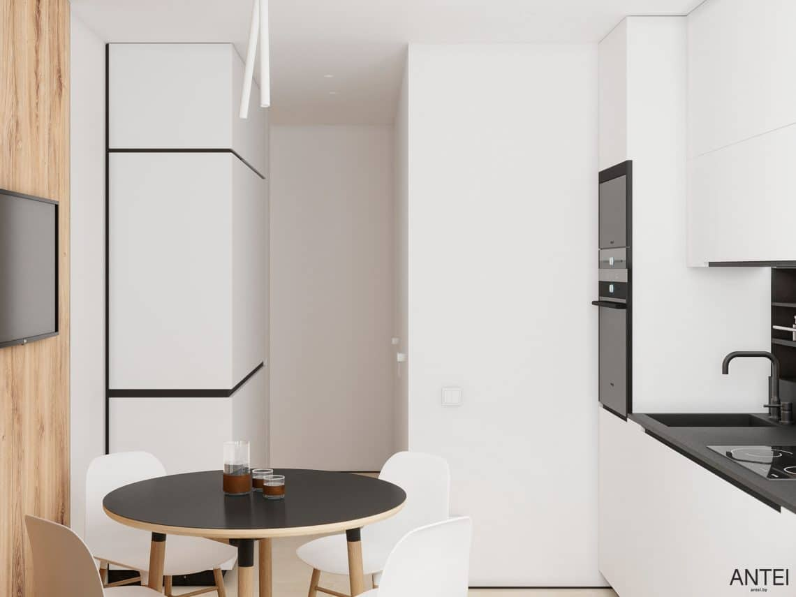 Дизайн интерьера трехкомнатной квартиры в Речице, ул. Наумова - кухня фото №2