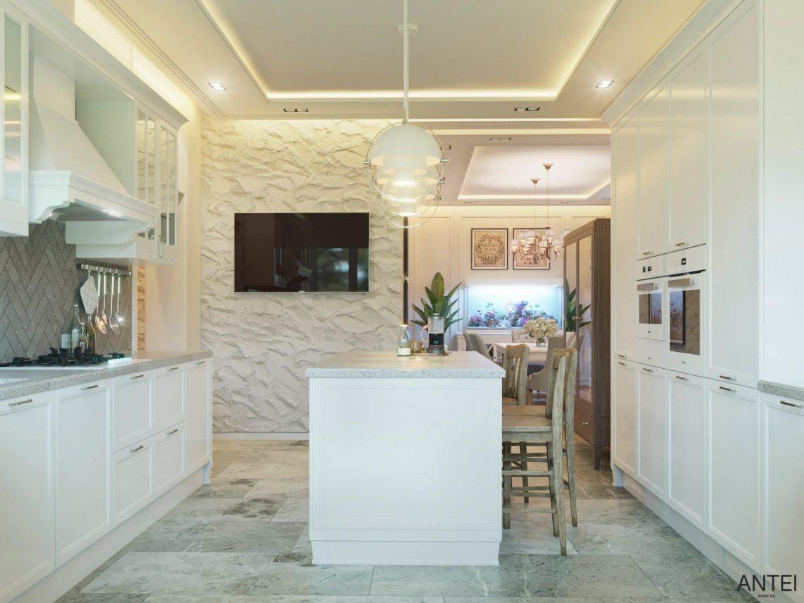 Дизайн интерьера двухэтажного дома в Гомеле, по ул. Брянская - кухня фото №4