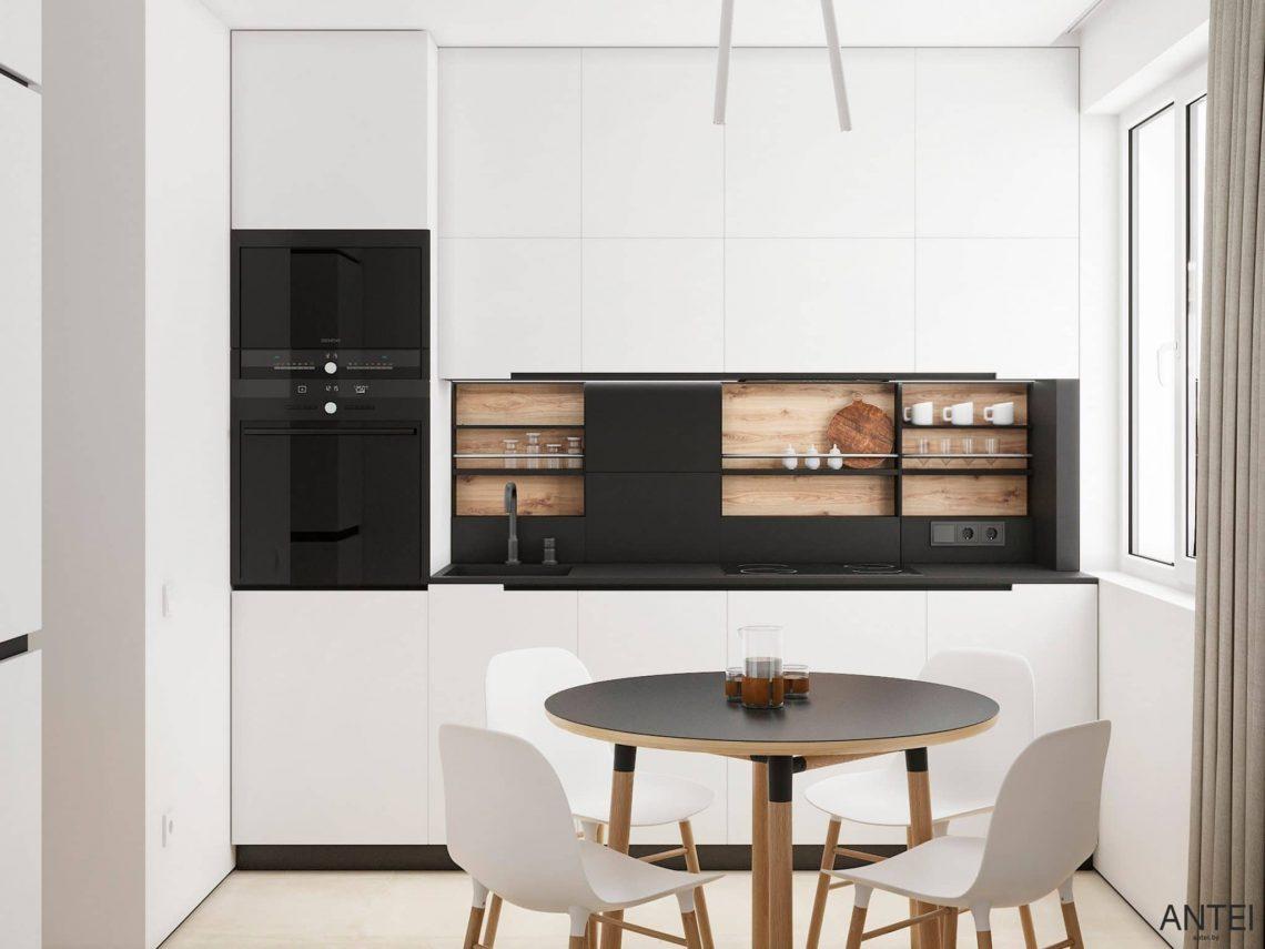 Дизайн интерьера трехкомнатной квартиры в Речице, ул. Наумова - кухня фото №1