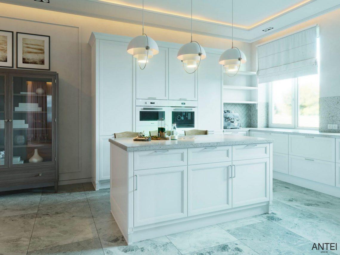 Дизайн интерьера двухэтажного дома в Гомеле, по ул. Брянская - кухня фото №3