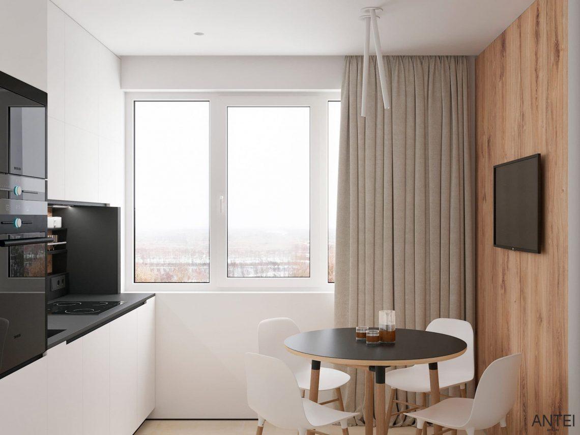 Дизайн интерьера трехкомнатной квартиры в Речице, ул. Наумова - кухня фото №3