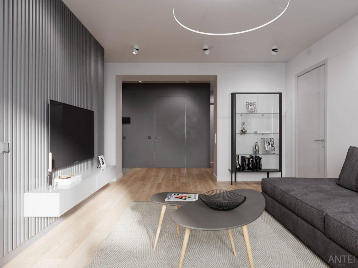 Дизайн интерьера трехкомнатной квартиры в Гомеле, по ул. Садовая - кухня-гостиная фото №4
