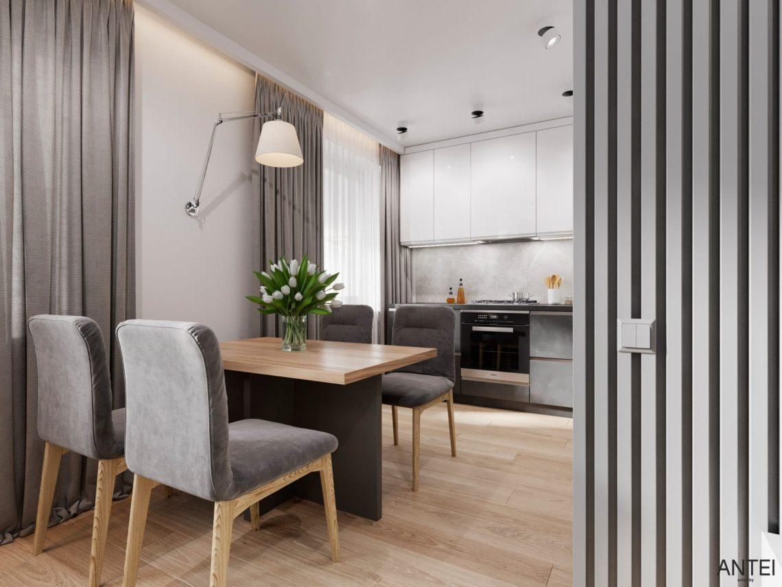 Дизайн интерьера трехкомнатной квартиры в Гомеле, по ул. Садовая - кухня-гостиная фото №7