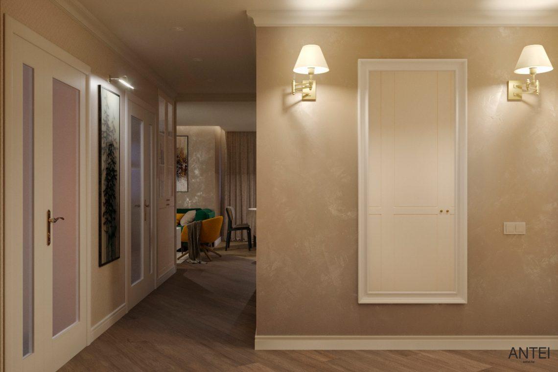 Дизайн интерьера трехкомнатной квартиры в Гомеле, ул. Бородина - прихожая фото №1