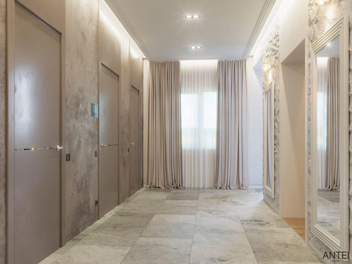 Дизайн интерьера двухэтажного дома в Гомеле, по ул. Брянская - прихожая фото №1