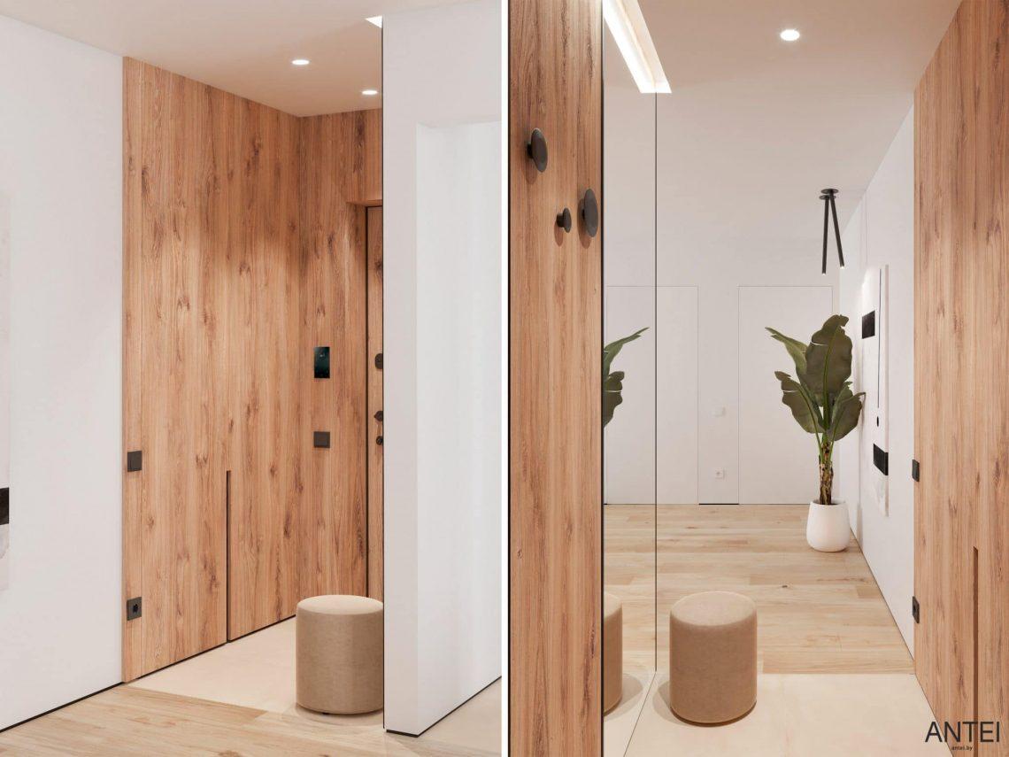 Дизайн интерьера трехкомнатной квартиры в Речице, ул. Наумова - прихожая фото №1