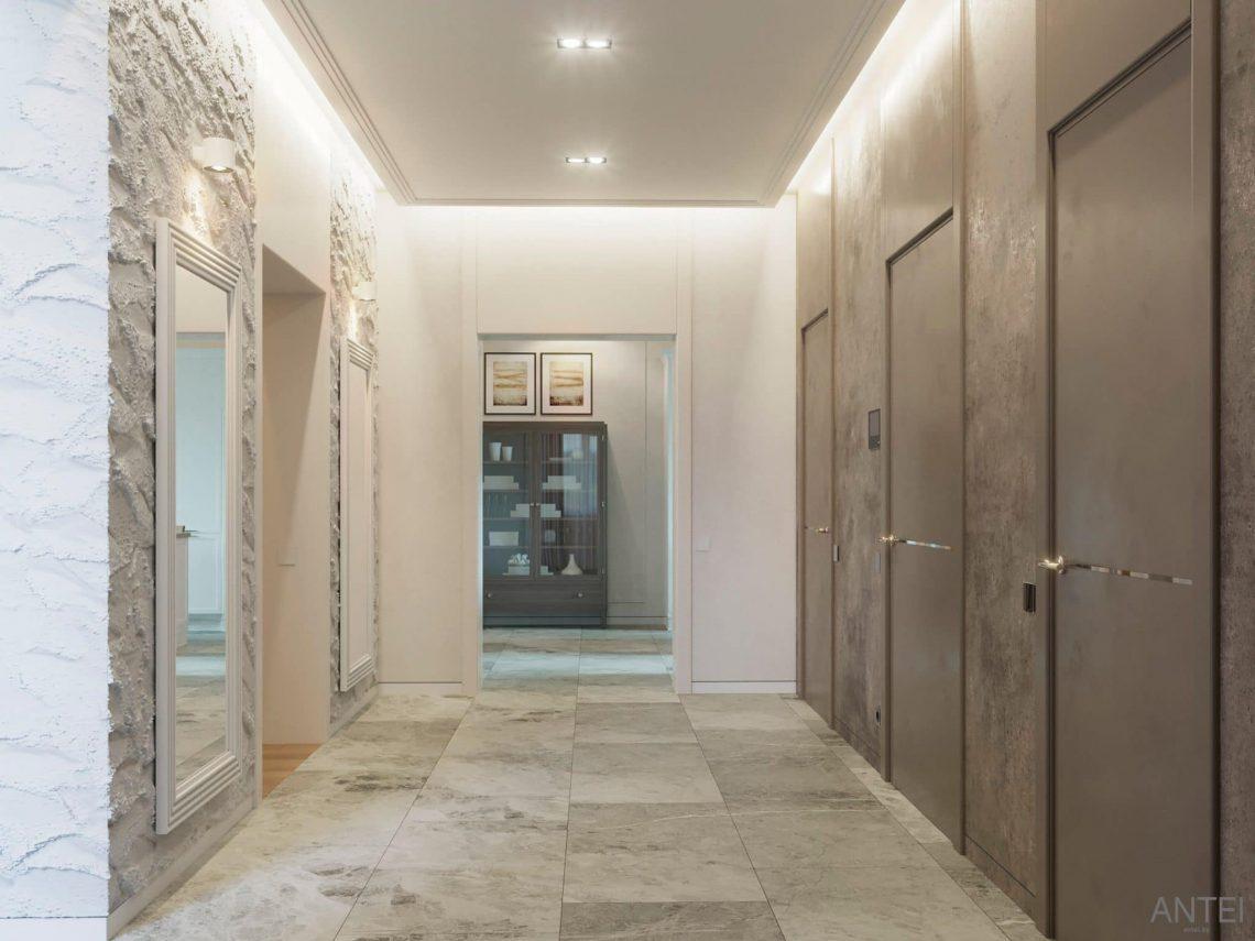 Дизайн интерьера двухэтажного дома в Гомеле, по ул. Брянская - прихожая фото №2