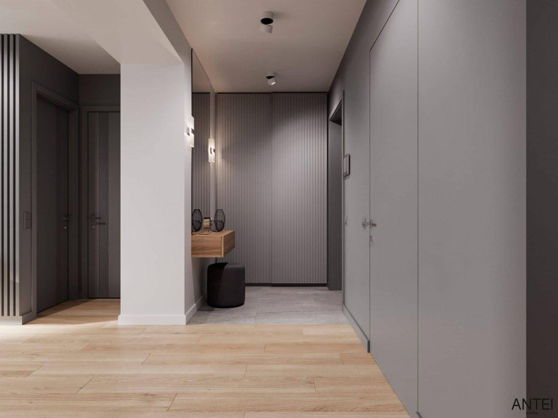 Дизайн интерьера трехкомнатной квартиры в Гомеле, по ул. Садовая - прихожая фото №1