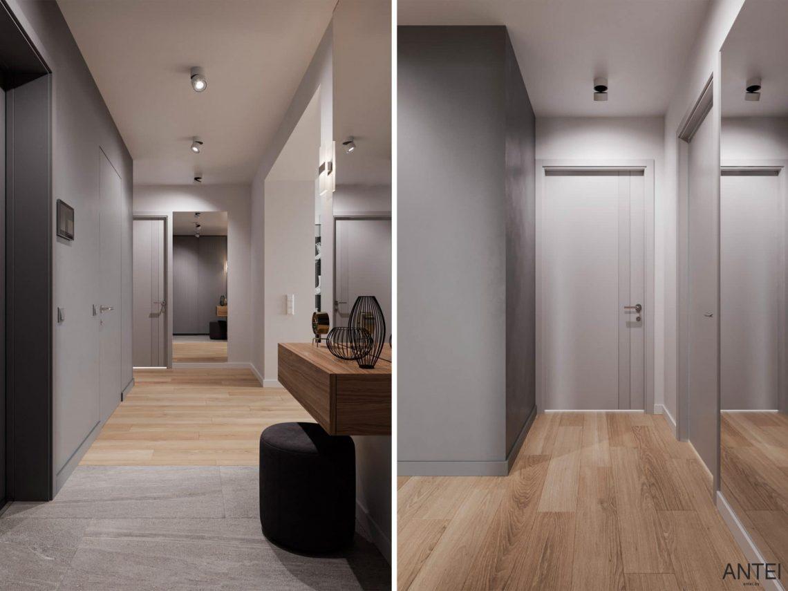 Дизайн интерьера трехкомнатной квартиры в Гомеле, по ул. Садовая - прихожая фото №2