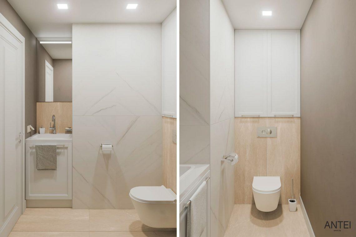 Дизайн интерьера трехкомнатной квартиры в Гомеле, ул. Бородина - санузел фото №1