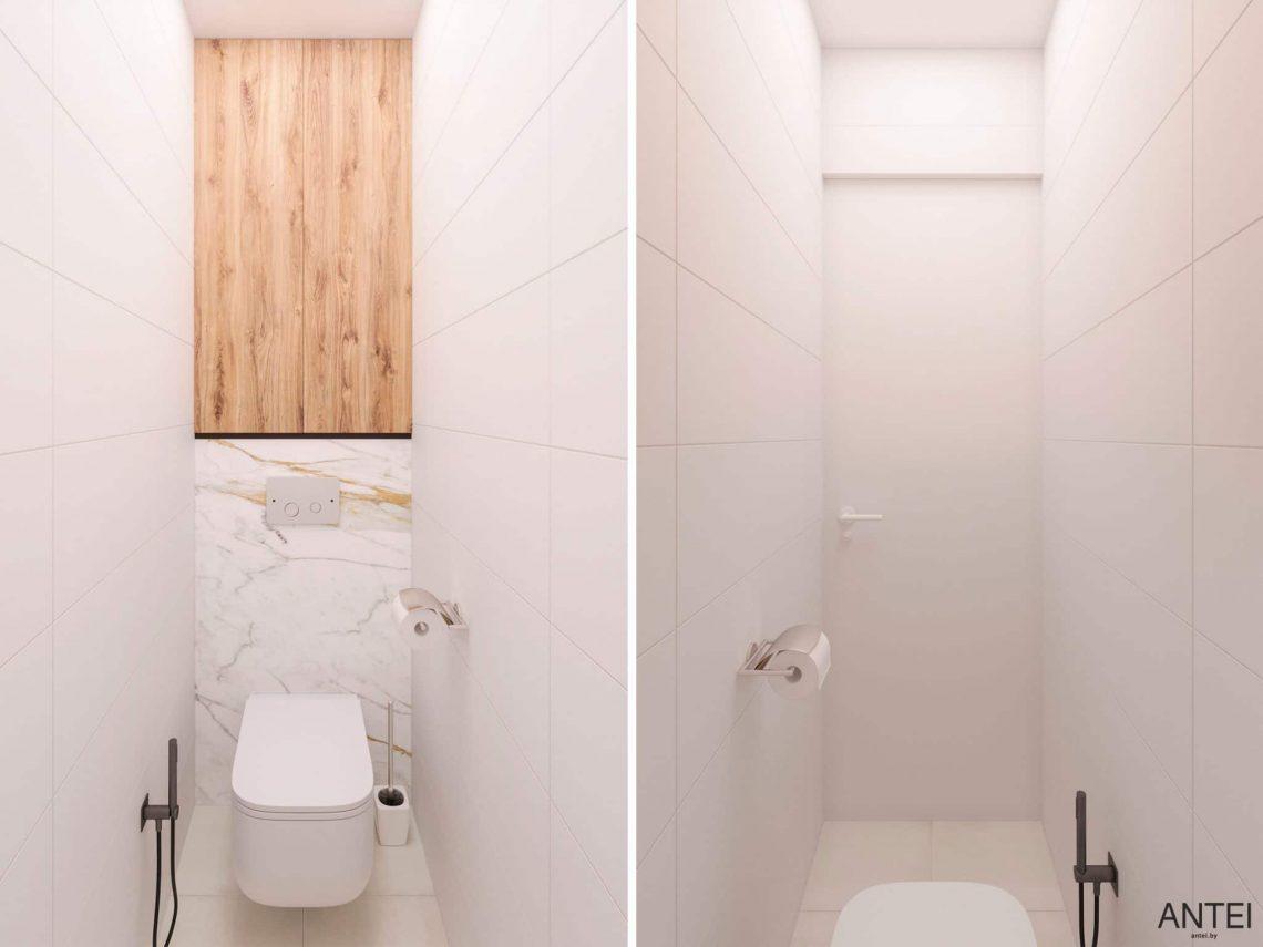 Дизайн интерьера трехкомнатной квартиры в Речице, ул. Наумова - санузел фото №1