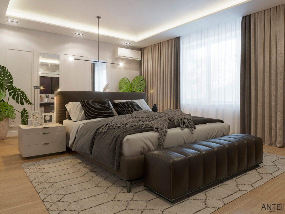 Дизайн интерьера двухэтажного дома в Гомеле, по ул. Брянская - спальня фото №1