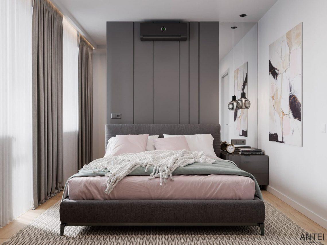 Дизайн интерьера трехкомнатной квартиры в Гомеле, по ул. Садовая - спальня фото №2