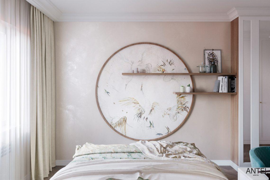 Дизайн интерьера трехкомнатной квартиры в Гомеле, ул. Бородина - спальня фото №3