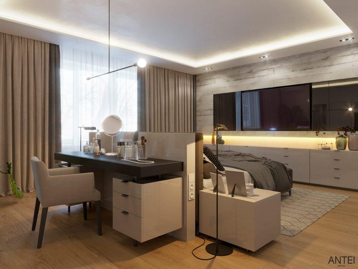 Дизайн интерьера двухэтажного дома в Гомеле, по ул. Брянская - спальня фото №2