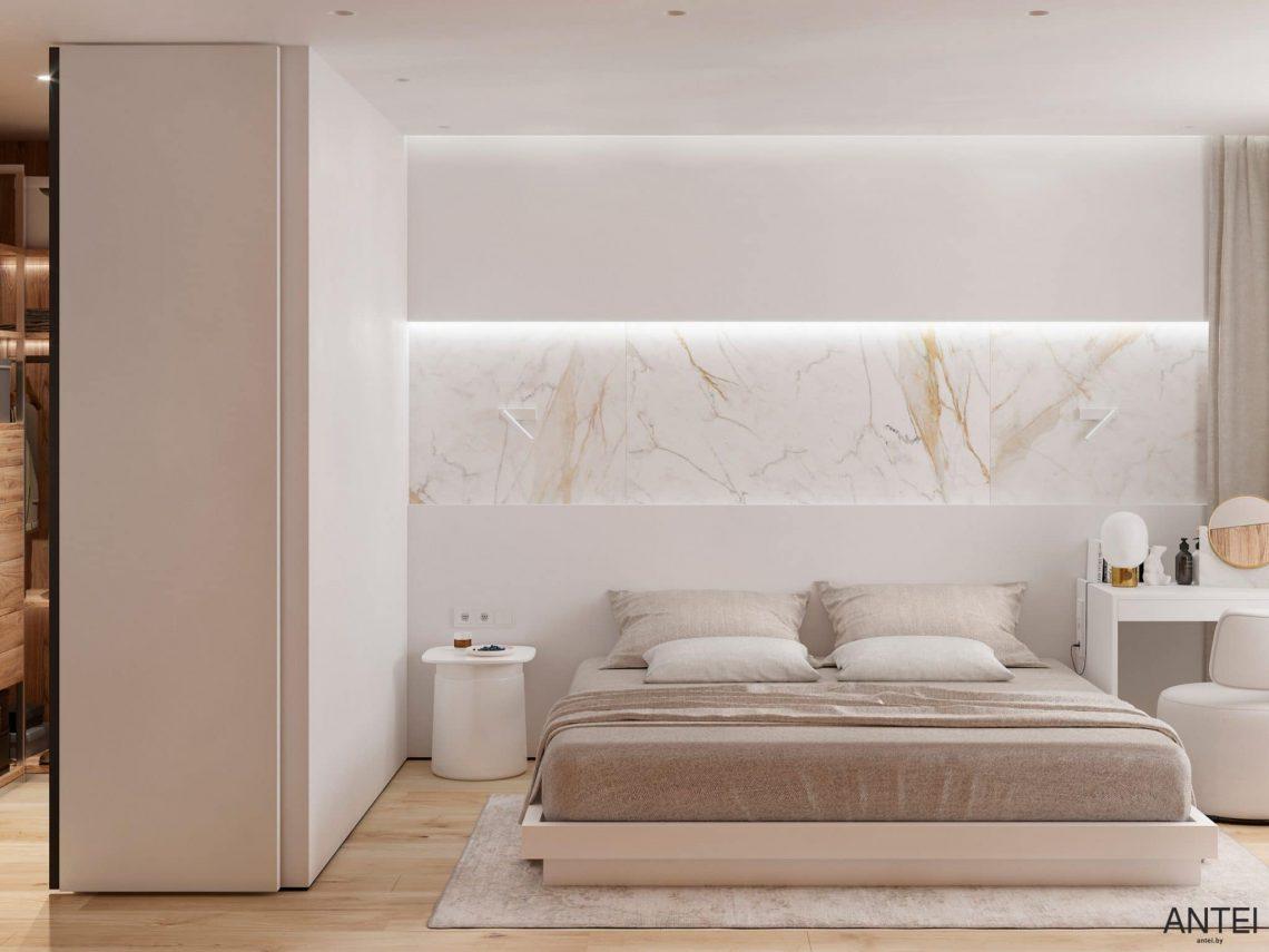 Дизайн интерьера трехкомнатной квартиры в Речице, ул. Наумова - спальня фото №1
