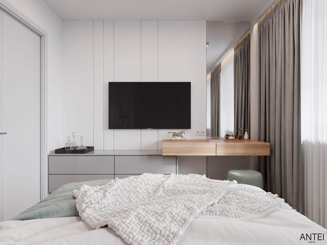Дизайн интерьера трехкомнатной квартиры в Гомеле, по ул. Садовая - спальня фото №3