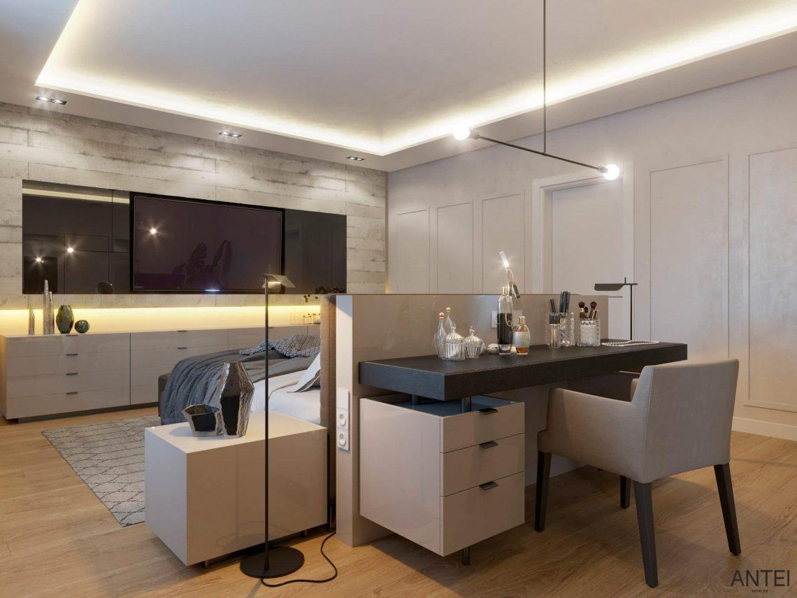 Дизайн интерьера двухэтажного дома в Гомеле, по ул. Брянская - спальня фото №3