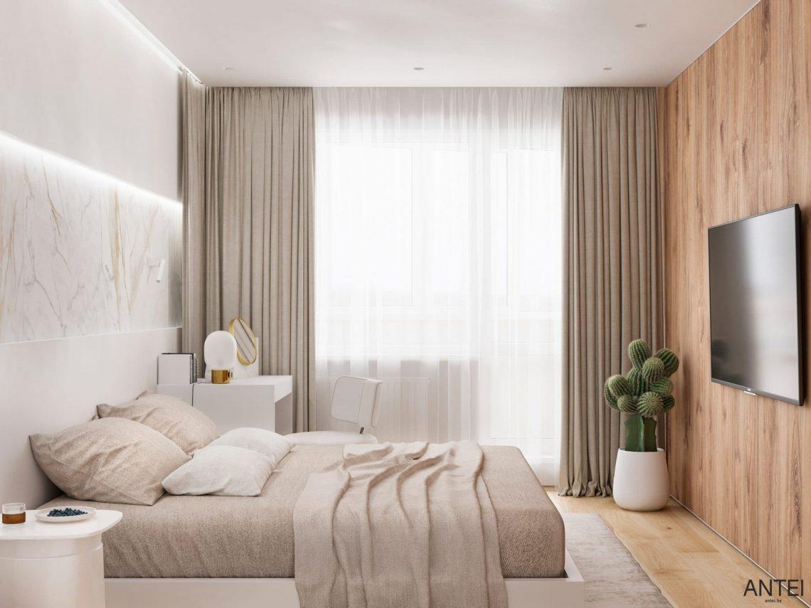 Дизайн интерьера трехкомнатной квартиры в Речице, ул. Наумова - спальня фото №2