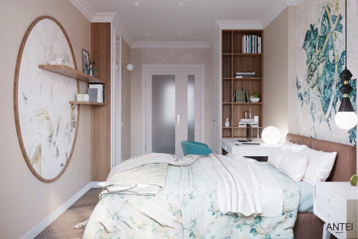 Дизайн интерьера трехкомнатной квартиры в Гомеле, ул. Бородина - спальня фото №2